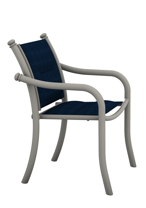 patio dining chair padded sling