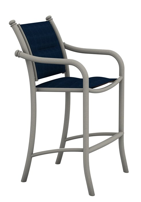 patio padded sling bar stool stationary