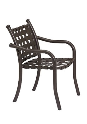 outdoor cross strap dining chair