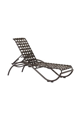 outdoor strap chaise lounge