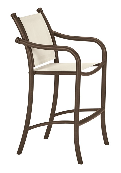 patio relaxed sling stationary bar stool