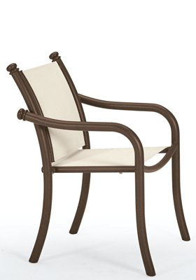 relaxed sling patio dining chair