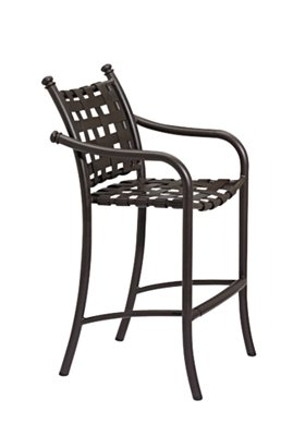 patio cross strap bar stool
