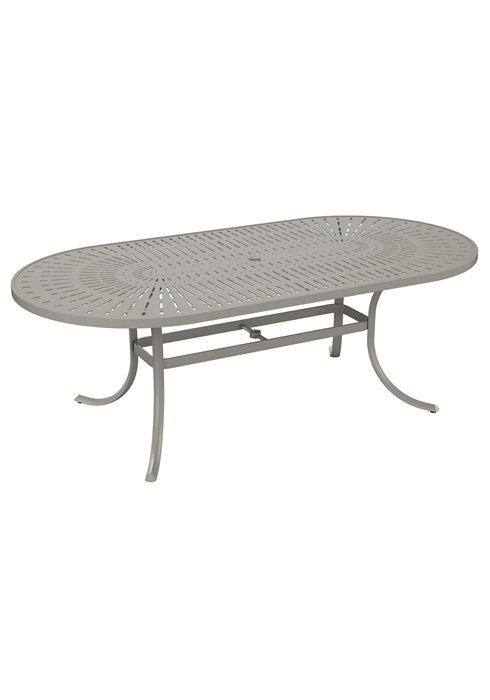 oval patio dining umbrella table