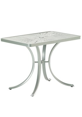 rectangular patio umbrella table