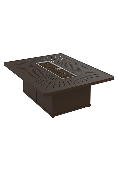 modern outdoor rectangular fire pit