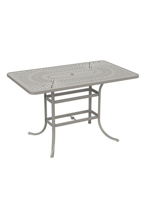patio umbrella bar table rectangular