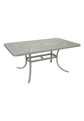patio rectangular umbrella dining table