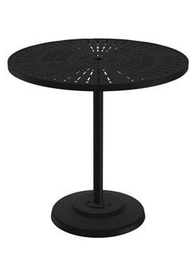 round pedestal patio aluminum bar table