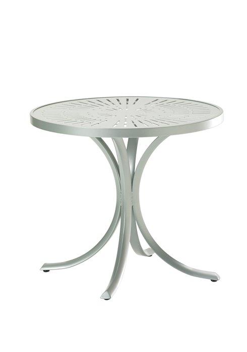 patio round dining aluminum table