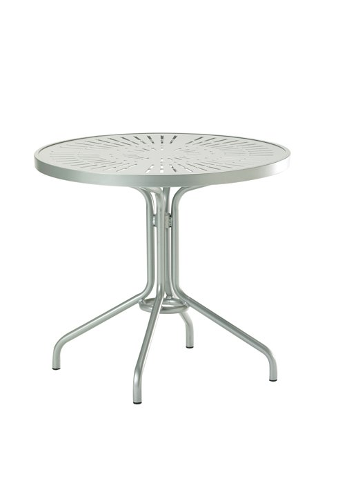 patio dining aluminum round table
