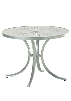 aluminum round patio dining table