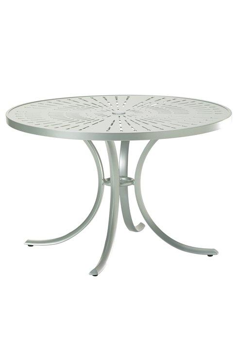 patio round aluminum dining table