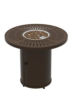 modern outdoor round fire pit