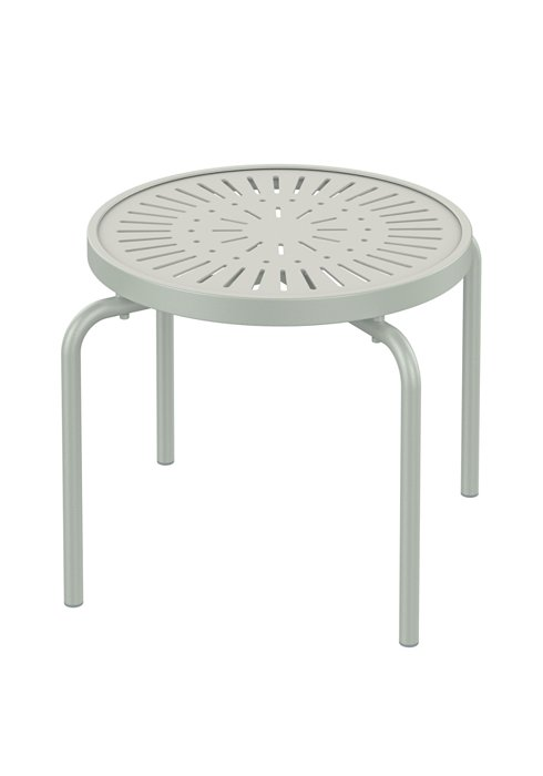 patio round aluminum stacking tea table