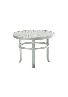 round aluminum outdoor tea table