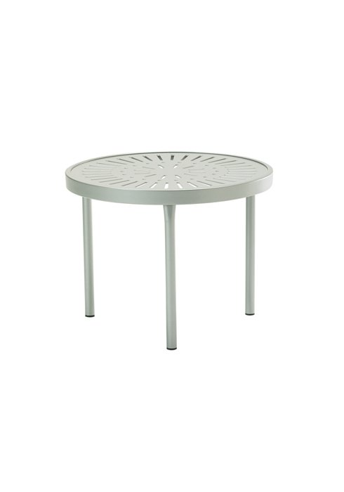 aluminum round patio tea table