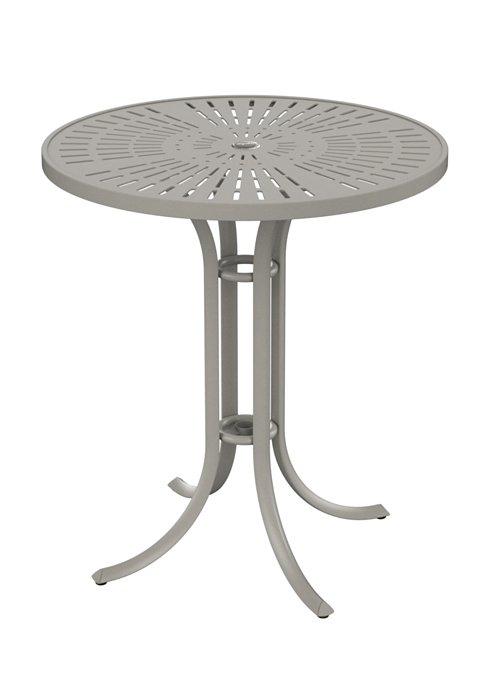 patio umbrella round bar table
