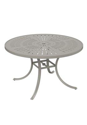 """La'Stratta 48"""" Round Umbrella Dining Table"""