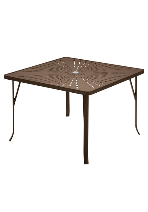 La Stratta 42 Quot Square Umbrella Dining Table Ada Compliant