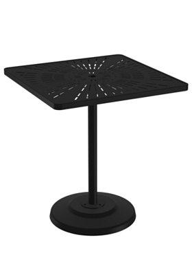 patio square pedestal bar table