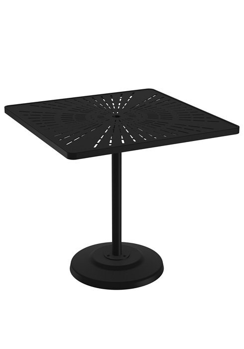 outdoor pedestal aluminum bar umbrella table
