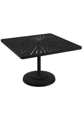 outdoor square pedestal dining umbrella table