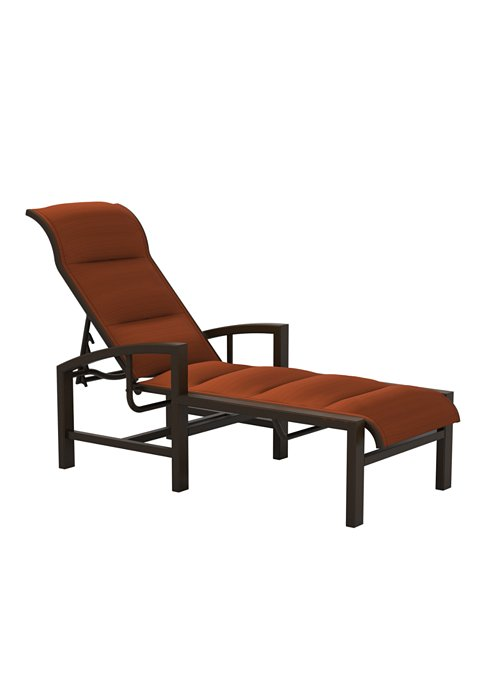 padded outdoor chaise lounge