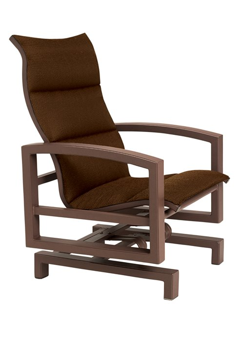 padded sling patio action lounger