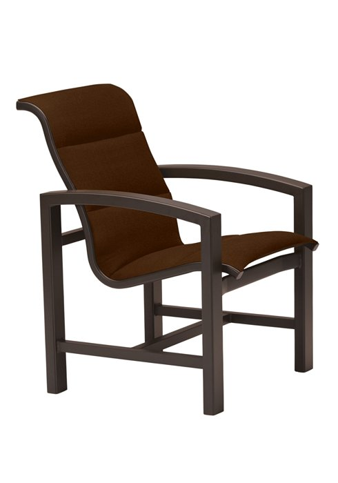 padded sling patio dining chair