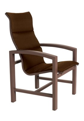 Lakeside Padded Sling High Back Dining Chair Outdoor