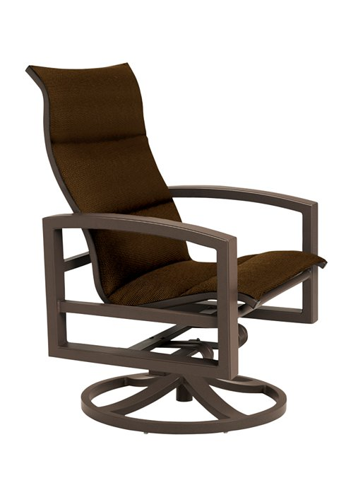 Tropitone Patio Chairs: Lakeside Padded Sling Swivel Action Lounger