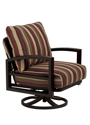 patio cushion swivel action lounge chair