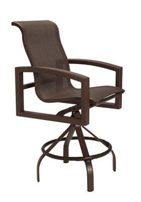 patio sling bar stool swivel