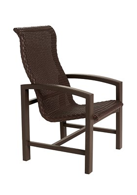 patio woven high back dining chair