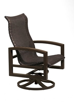 woven outdoor swivel action lounger