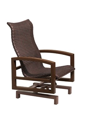 woven patio action lounger