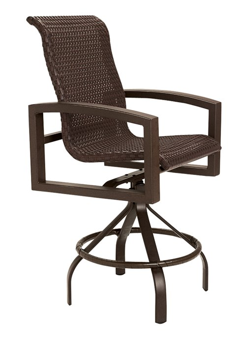 woven patio swivel bar stool