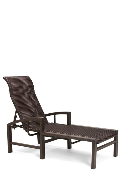 patio woven chaise lounge