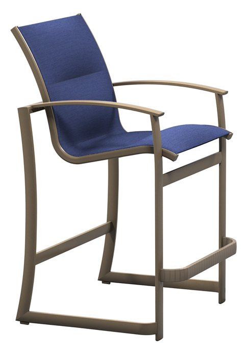 padded sling patio stationary bar stool