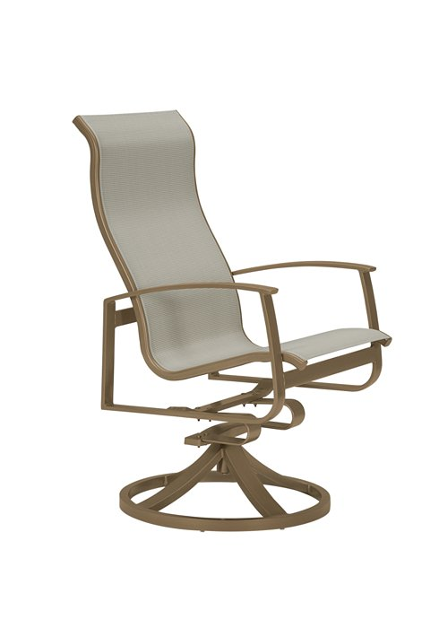 high back outdoor swivel rocker