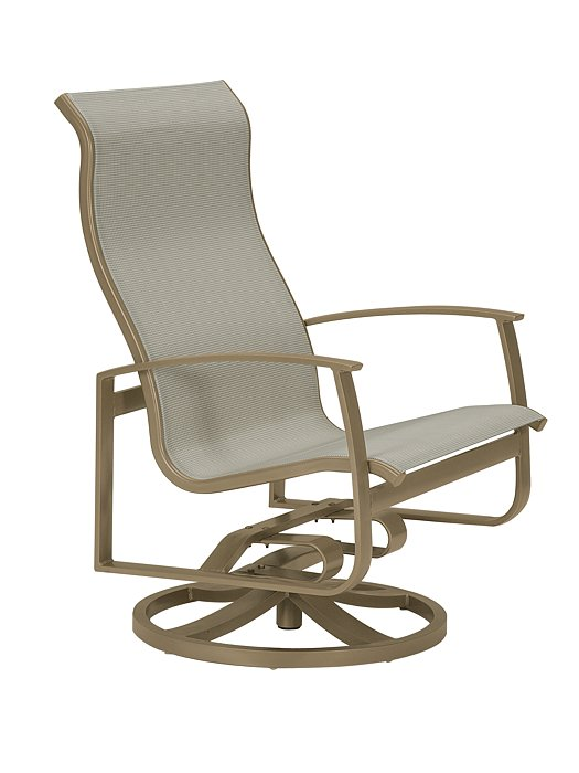 patio swivel action lounger high back