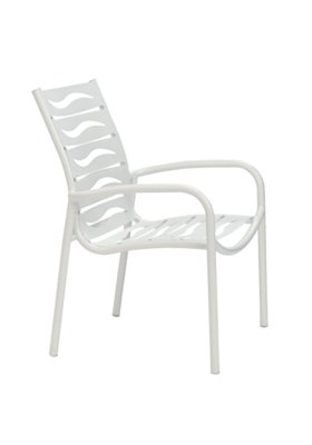 wave segment patio dining chair