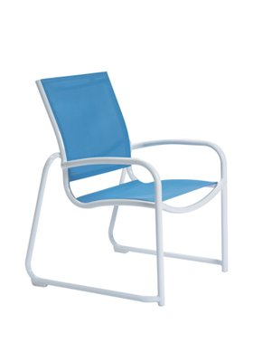 patio relaxed sling sled base dining chair