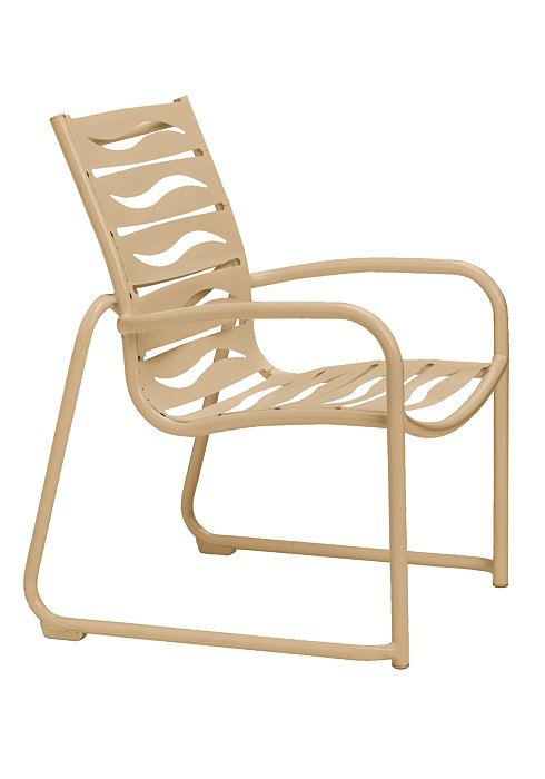 outdoor dining chair with sled base wave