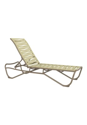 armless patio chaise lounge wave segment