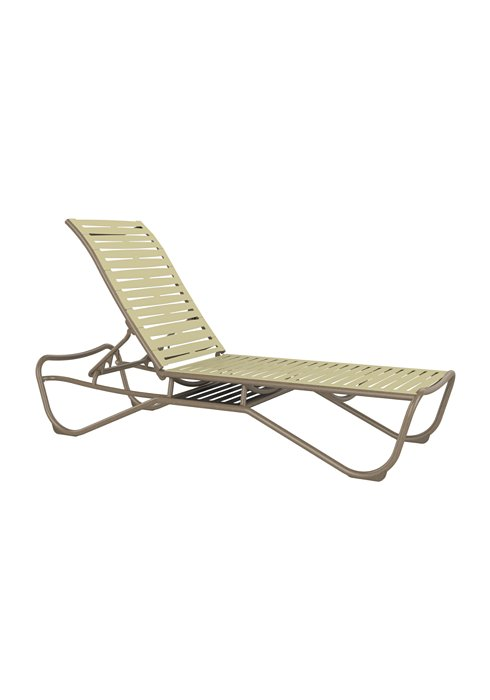 ribbon segment patio chaise lounge with shelf
