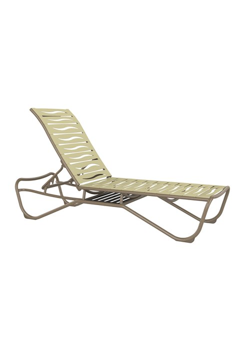 outdoor wave segment chaise lounge with shelf