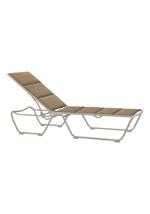 Chaise Lounge Patio Furniture Repair: Millennia Padded Sling Chaise Lounge