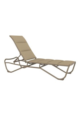 padded sling outdoor armless chaise lounge